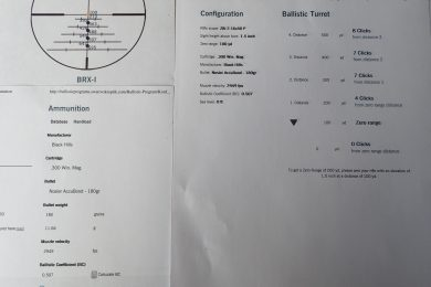 Study your ballistics in order yo make accurate shots at range