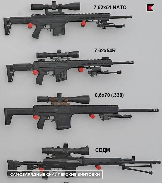 Chukavin SVCh sniper rifle variant (lower one is SVD)
