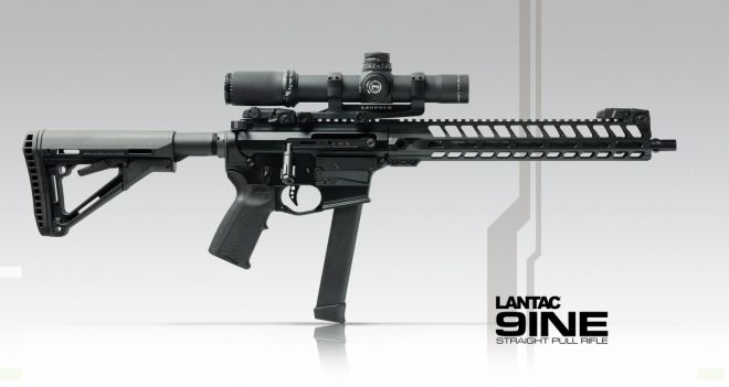 9INE - a Straight Pull 9x19 mm Rifle from Lantac UK -The
