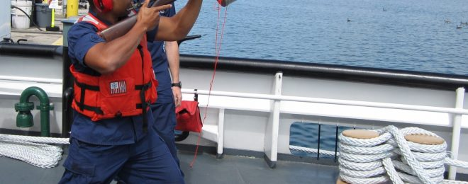 Coast Guard line thrower