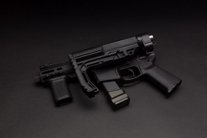 Shield arms folding lower receiver
