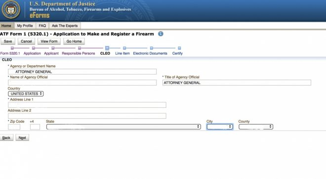how to use atf eforms