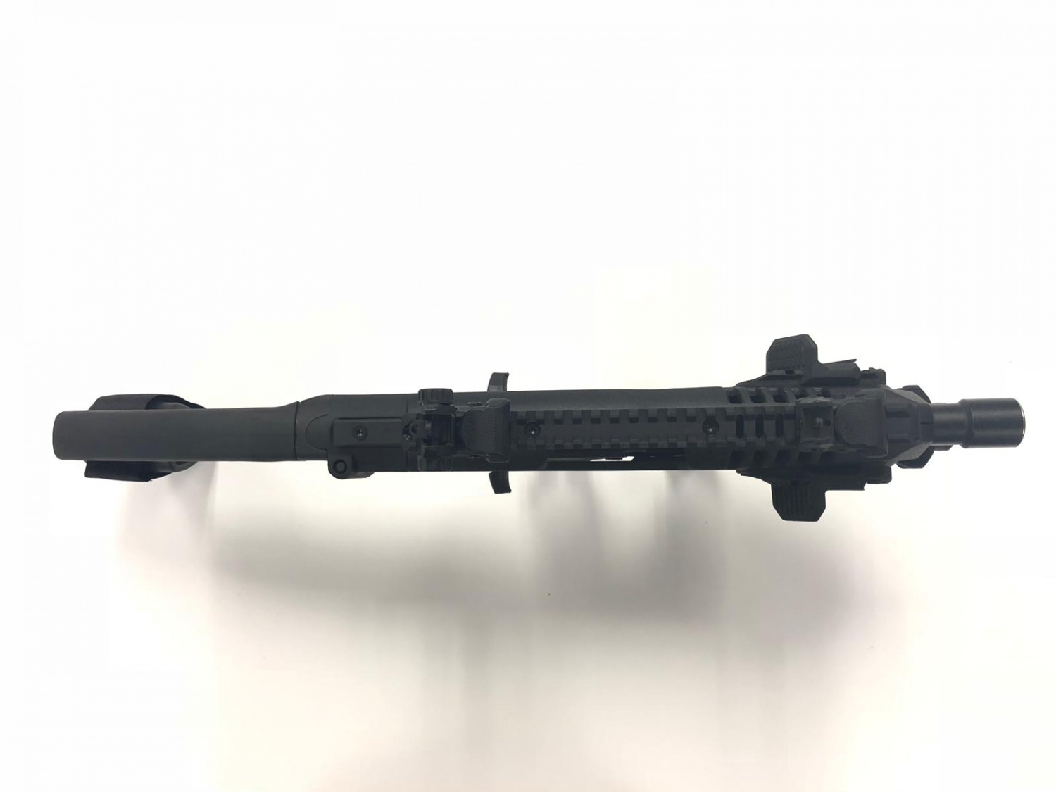 Top still integrates the rail so you can mount your optics of choice.