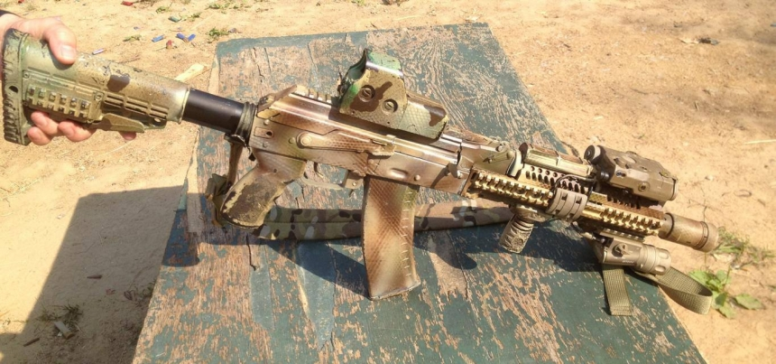 """Original """"Alpha AK"""", personal AK-105 of one of the best Russian special forces firearms instructors. Photo by Larry Vickers."""