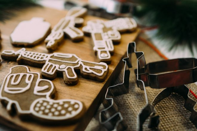 Festive Firearms Cookie Cutters from Kitfox Design Group