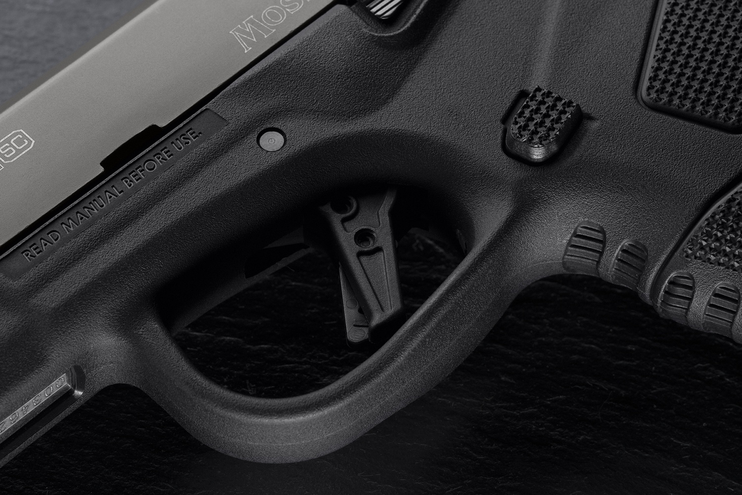 Oversized trigger guard is nice. It would be awesome to have a little higher cut at the back.
