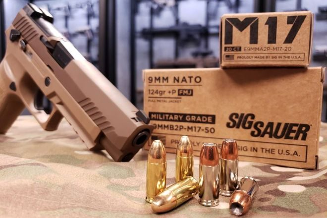 New SIG Sauer M17 9mm +P Ammunition Line (1)
