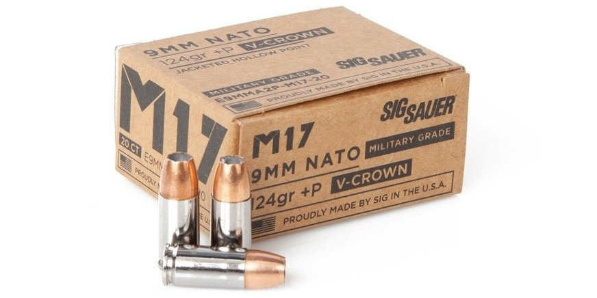 New SIG Sauer M17 9mm +P Ammunition Line (2)
