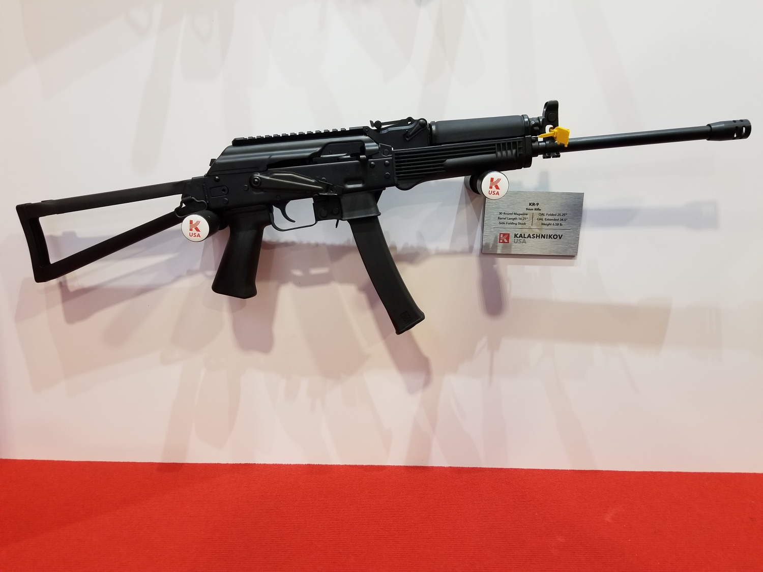 KR-9 rifle with 16.25 inch barrel.