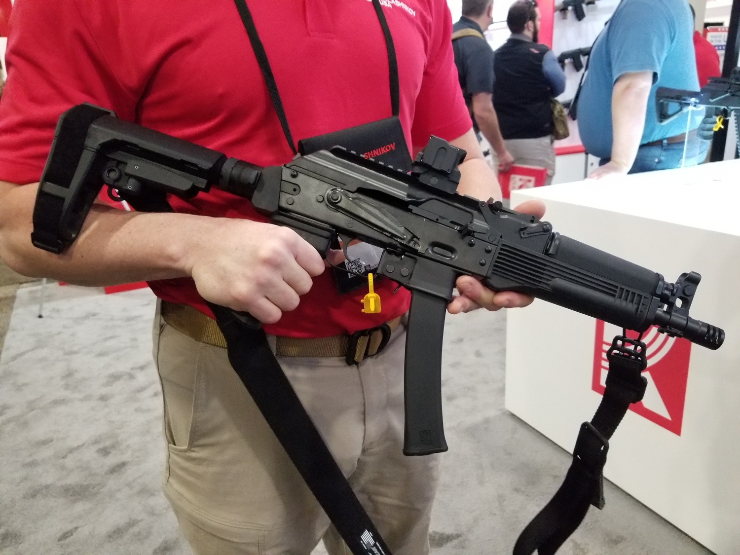 KR-9 pistol with a brace and red dot sight