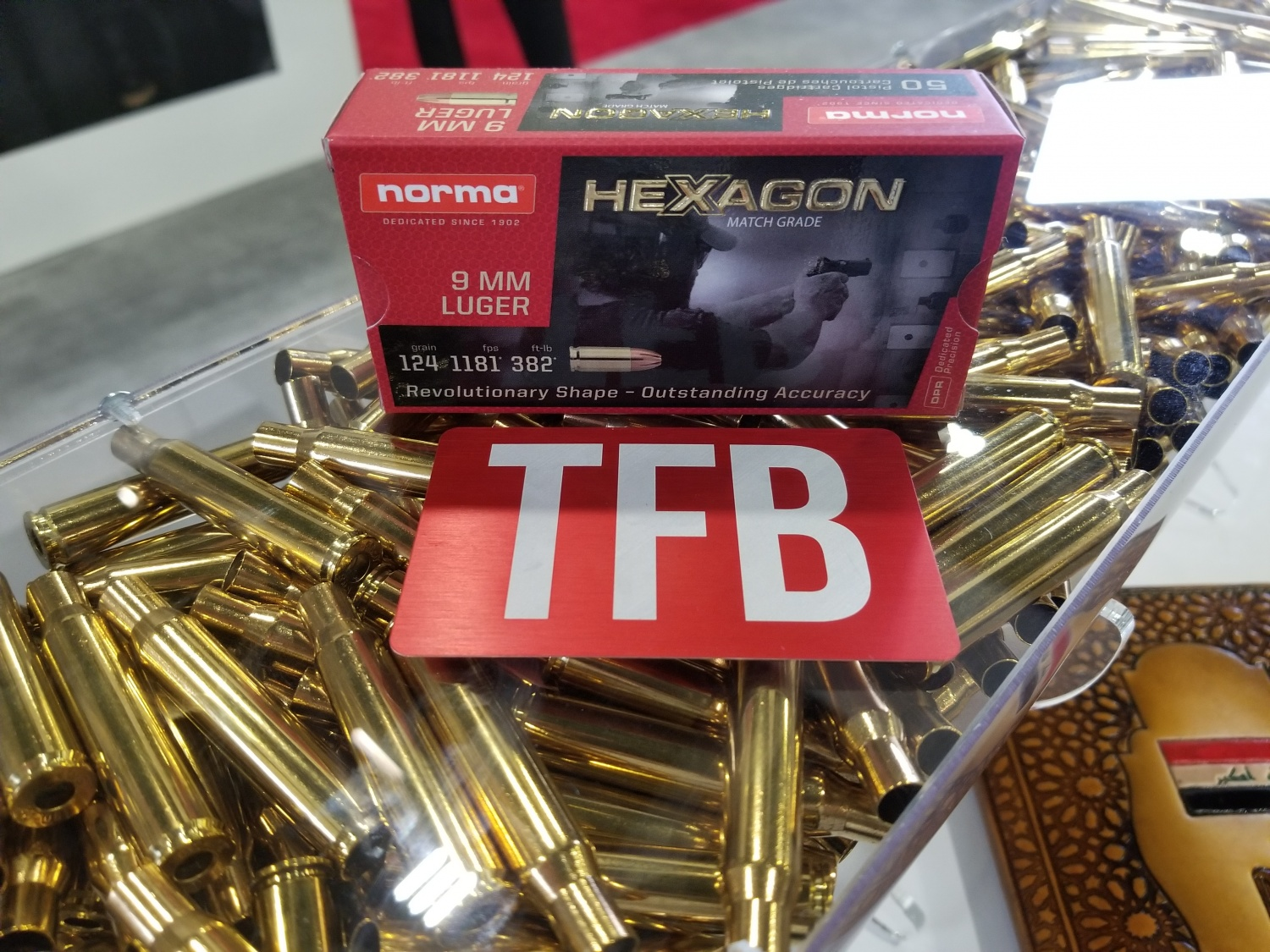 Hexagon 9 mm ammo from Norma
