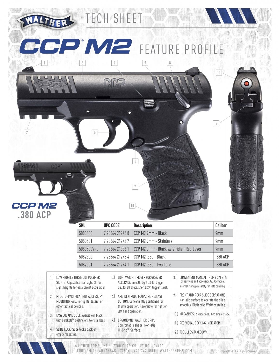 Stout Power & Smooth Handling: NEW Walther CCP M2  380
