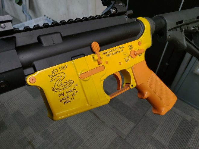 POTD: Snek Themed AR-15 Lower Receiver Shows Its New Colors -The
