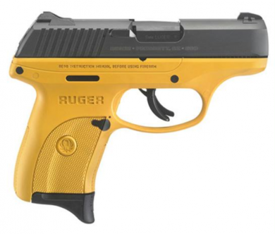 Ruger LC9s in banana yellow