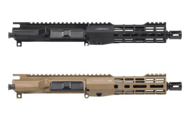 Aero Precision AR uppers in black and FDE