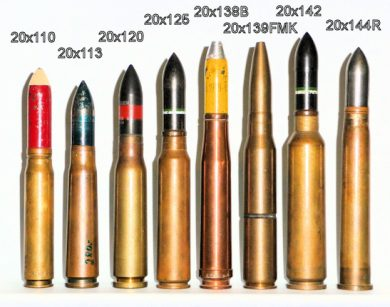 20mm anti-aircraft ammunition