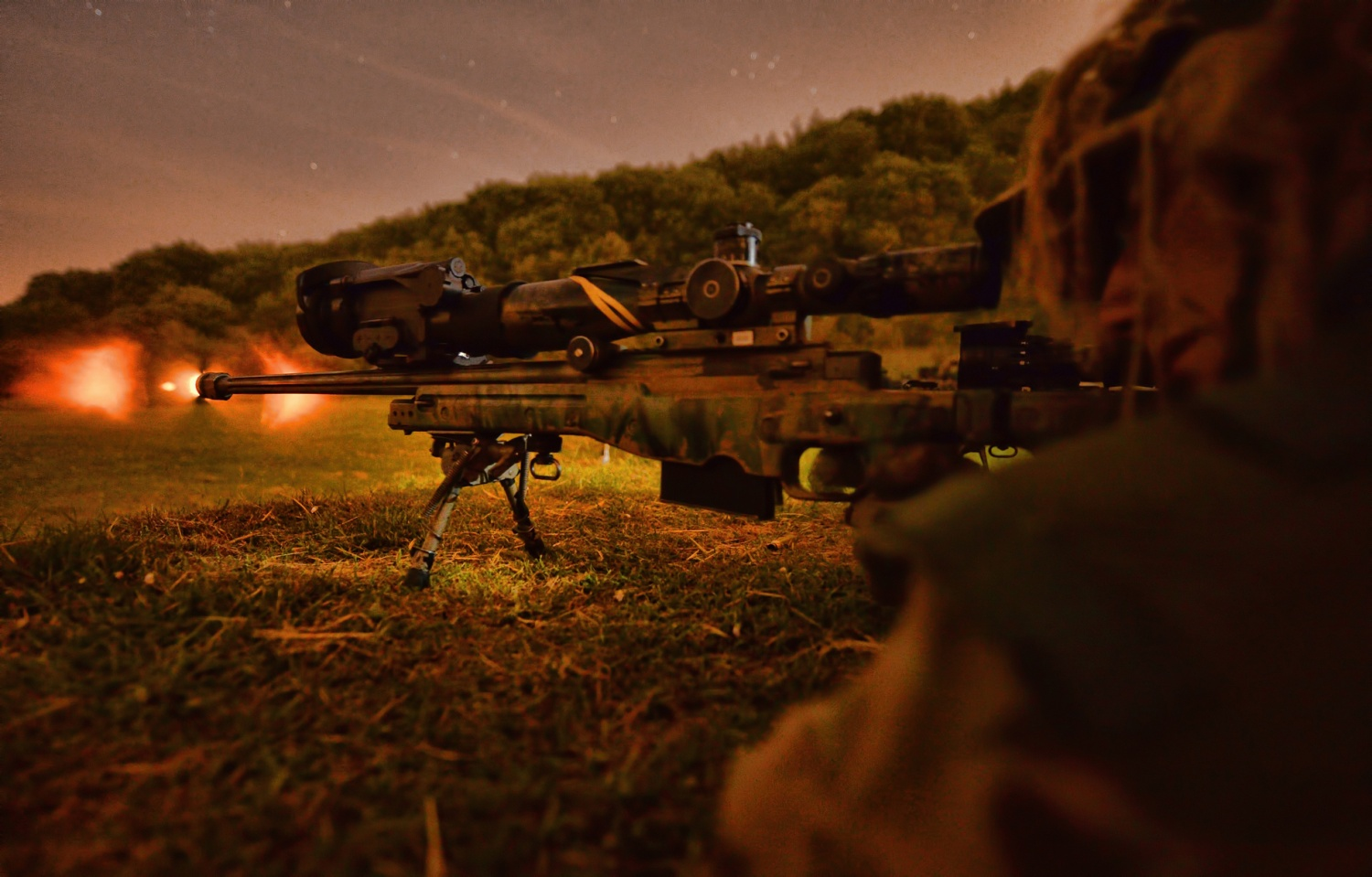 Potd L115a3 Long Range Sniper Rifle With Night Vision The Firearm Blog