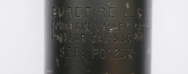 This is the serial number on my Surefire FA556AR