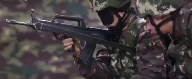 Chinese Soldiers Doing Bullpup Speed Reloads