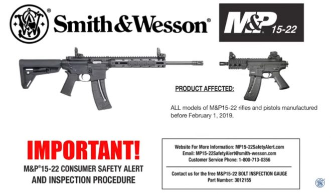 S&W Safety Alert: M&P 15-22 Needs Inspection -The Firearm Blog