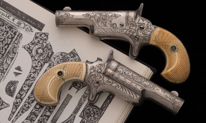 POTD A Pair of Engraved Colt Thuer Derringers (1)