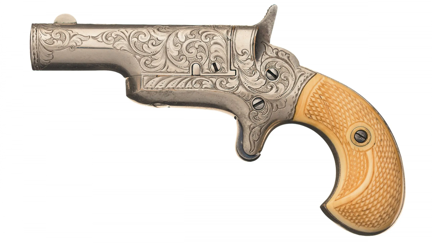 POTD A Pair of Engraved Colt Thuer Derringers (5)