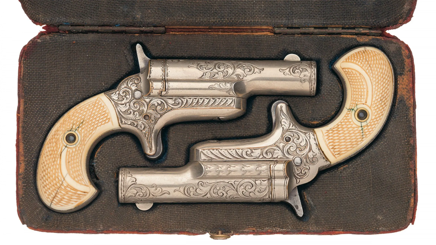 POTD A Pair of Engraved Colt Thuer Derringers (7)