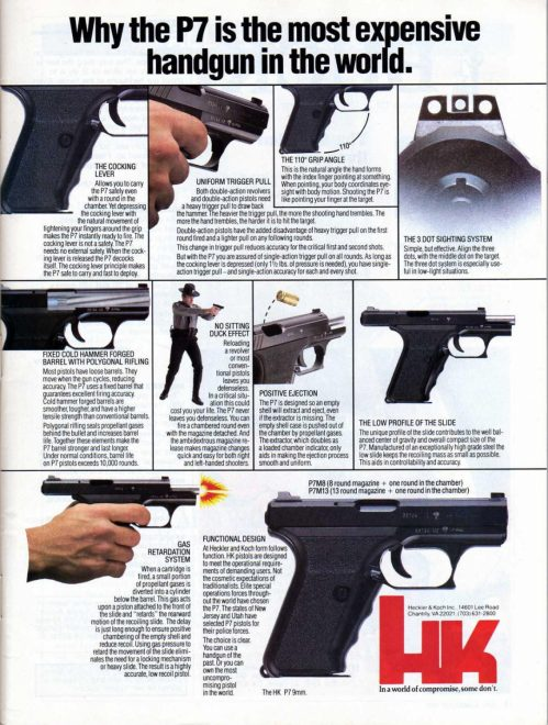 Why the P7 is the most expensive handgun in the world.