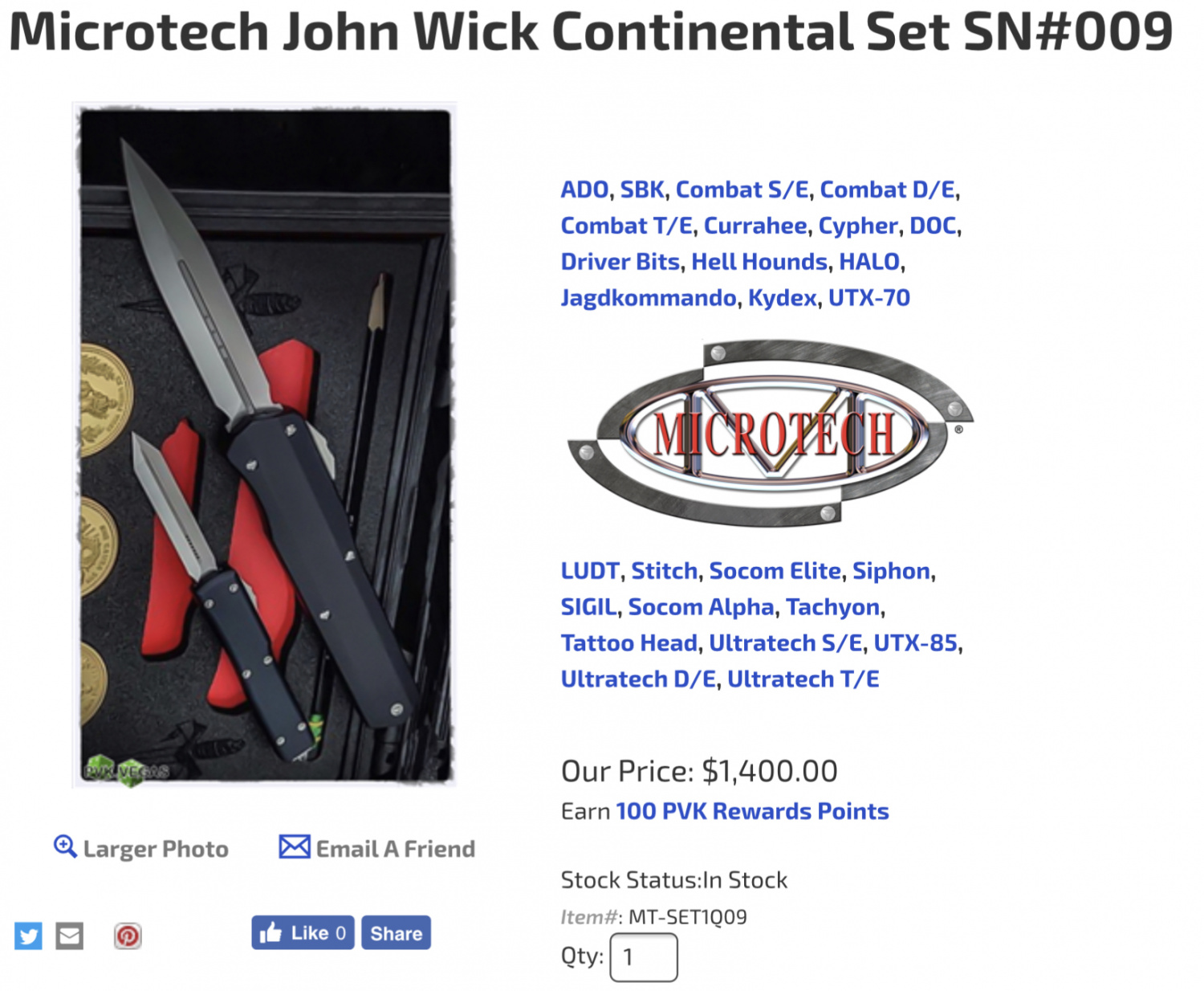 The Knives of John Wick - Microtech Continental Set -The Firearm Blog