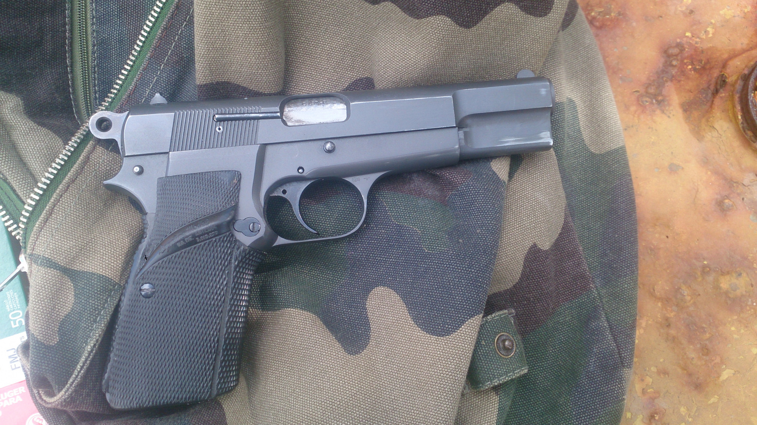 A friend's Browning HP pistol that kept author safe in some parts of South Africa.