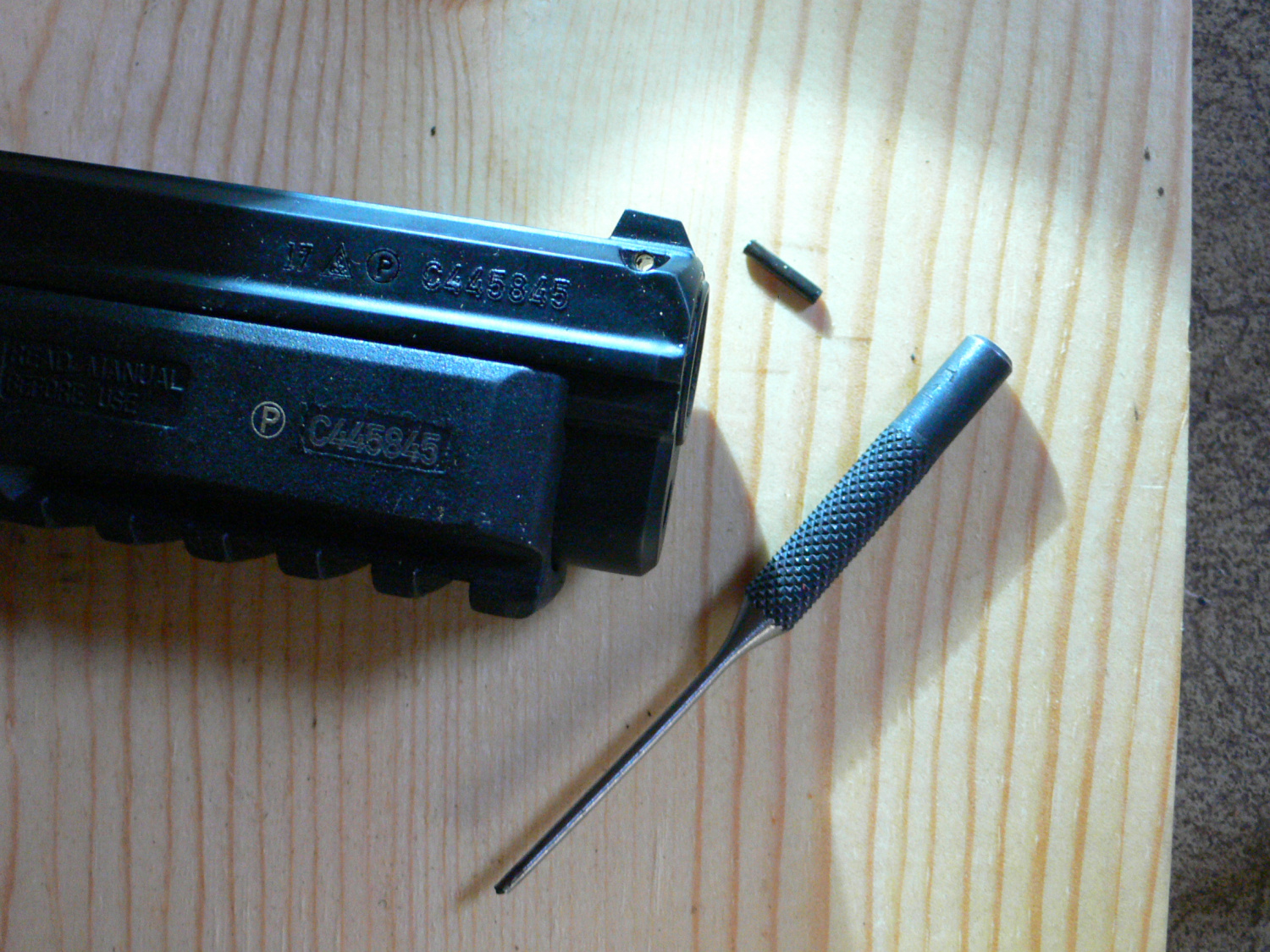 CZ 75 front sight replacement
