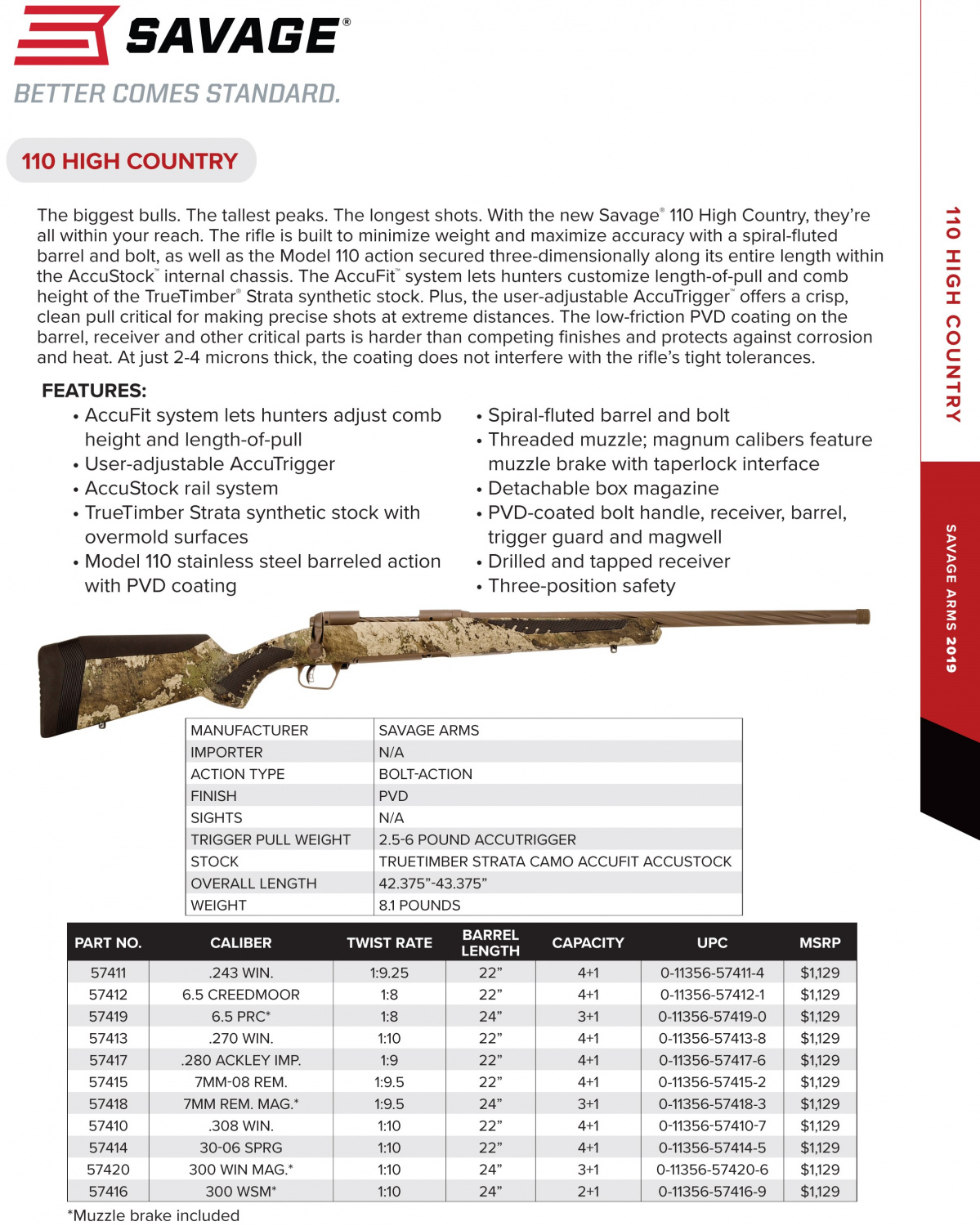NEW Savage 110 High Country - Big Game, Long Distance