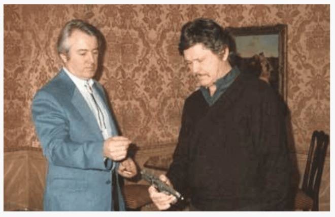 Wildey Moore with Charles Bronson.