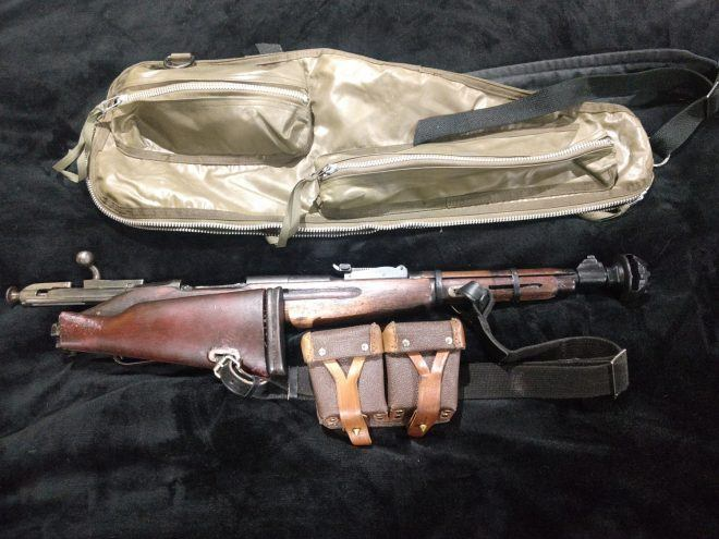 M60 bag and Folded Rifle