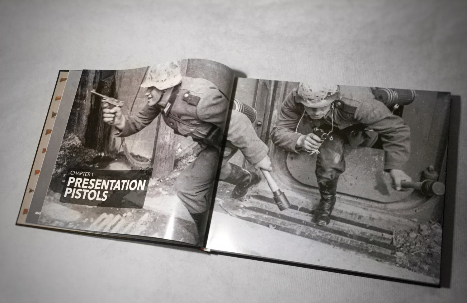 """Every chapter starts with a historical photo depicting weapons """"in action"""""""