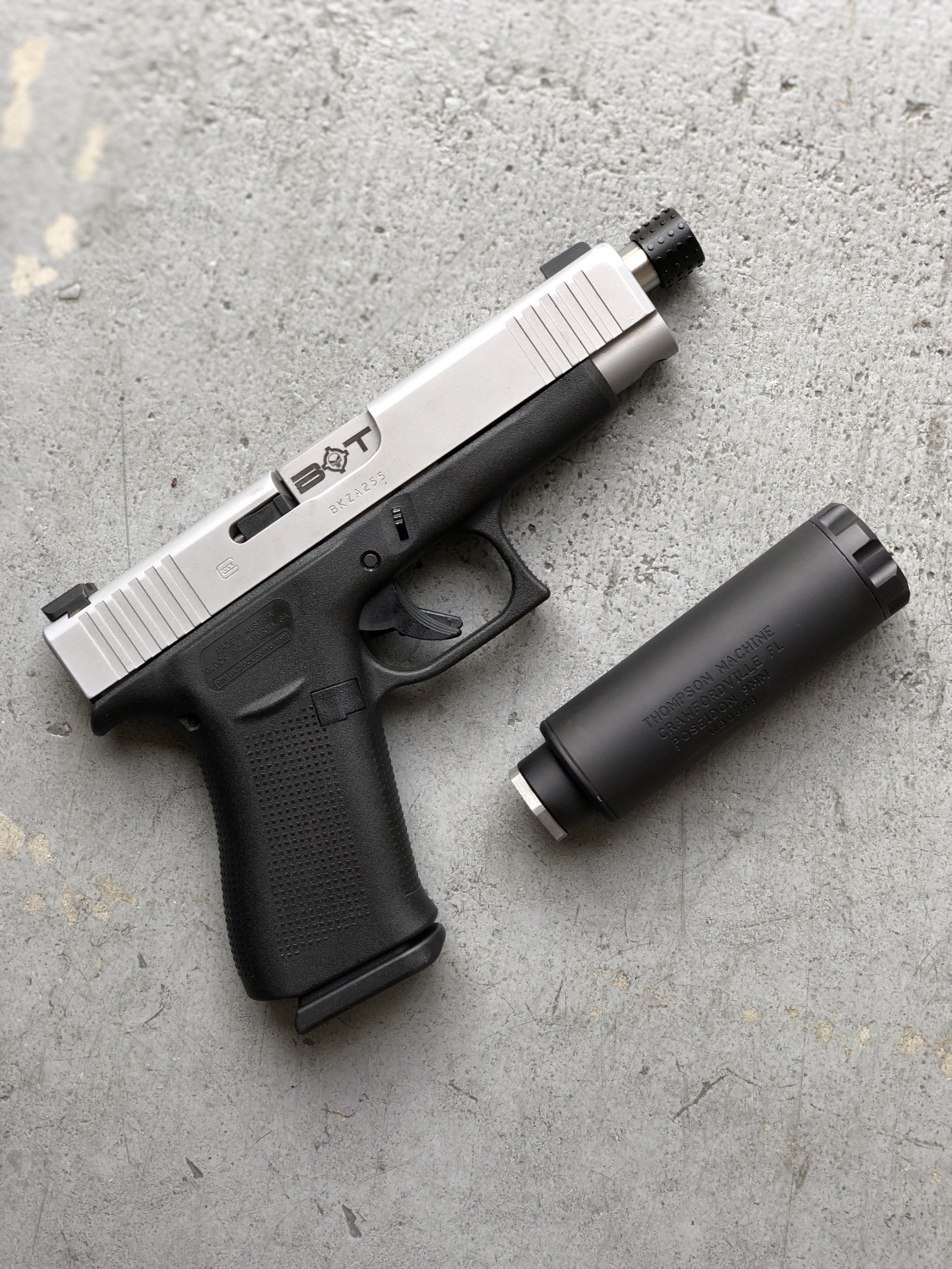 Backup Tactical Stainless With Suppressor