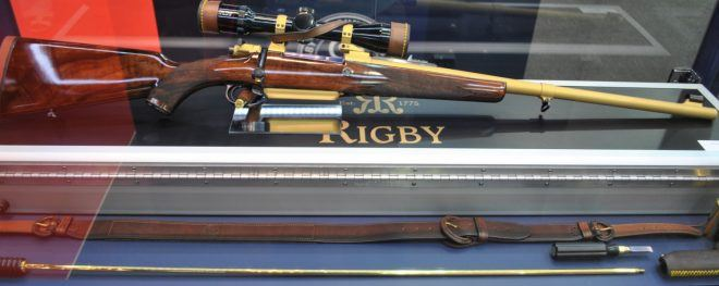 ADIHEX 2019: Rigby Bolt Action Gold.