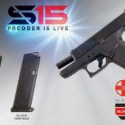 Shield Arms S15 Flush Fit 15 Round Magazines For Glock G43X and G48 Pistols - 1