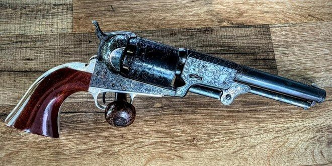 Wheelgun Wednesday Replica of Gustave Young Engraved Colt Dragoon Revolver (23)