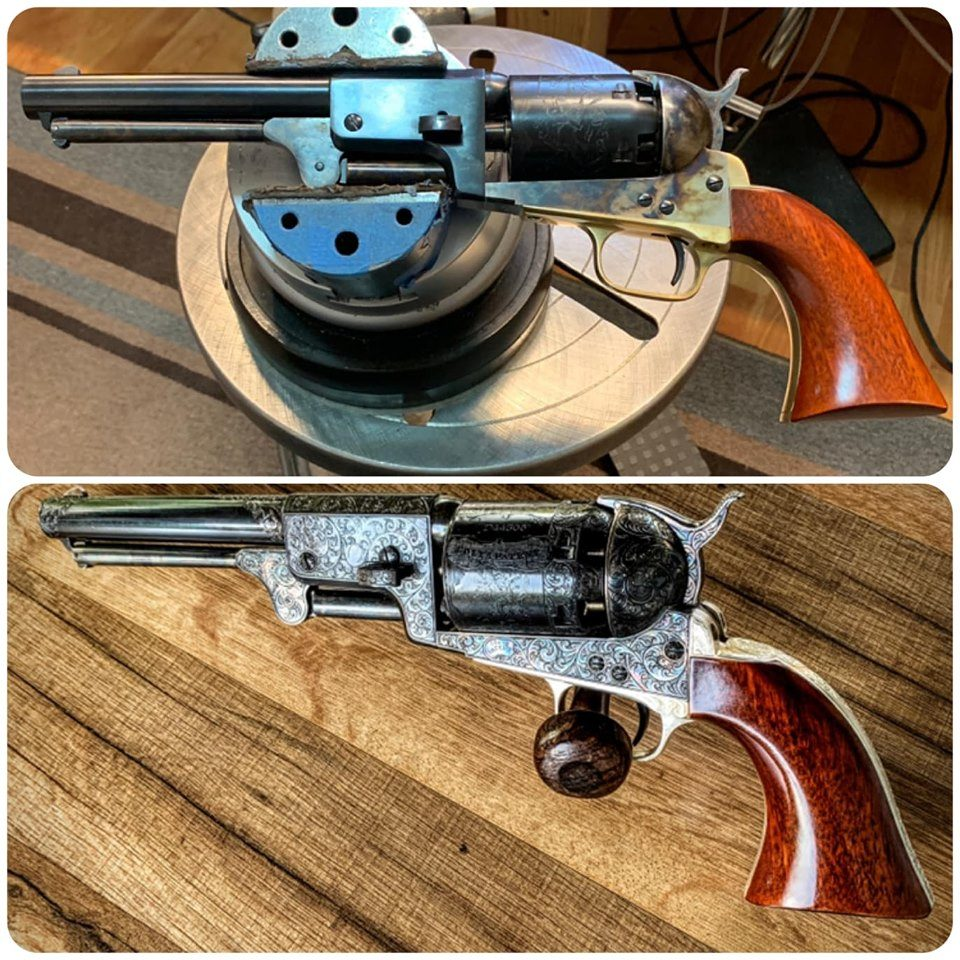 Wheelgun Wednesday Replica of Gustave Young Engraved Colt Dragoon Revolver (37)