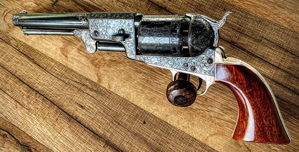 Wheelgun Wednesday Replica of Gustave Young Engraved Colt Dragoon Revolver (41)