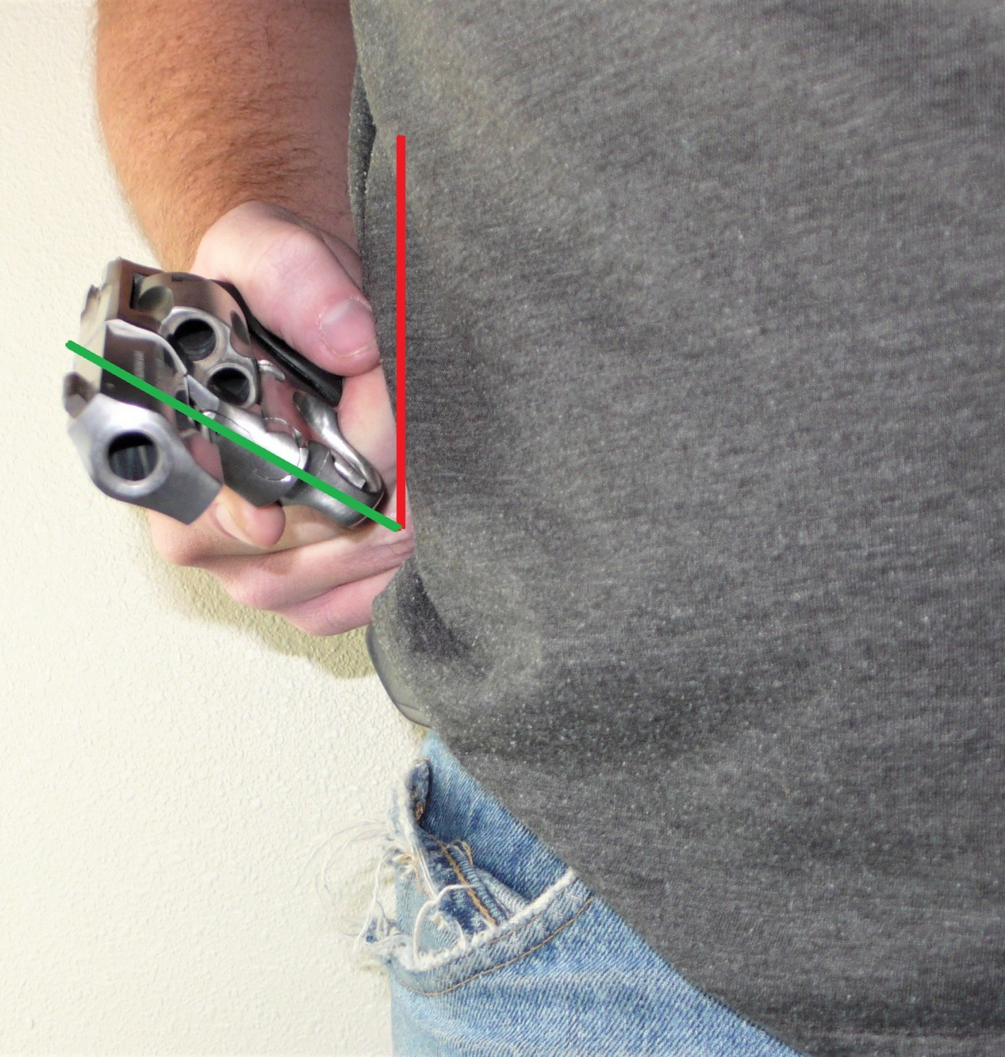 One-handed revolver drills