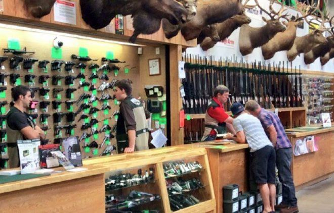 Sportsman's Warehouse Gun counter