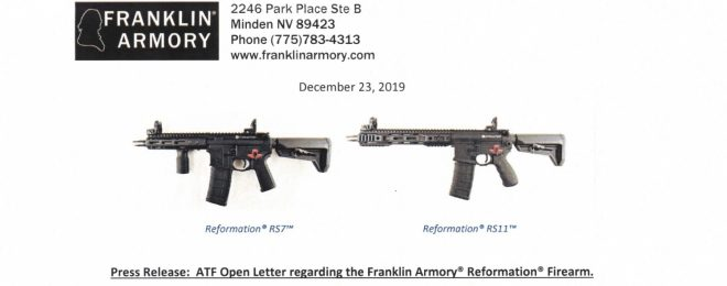 Franklin Armory Responds