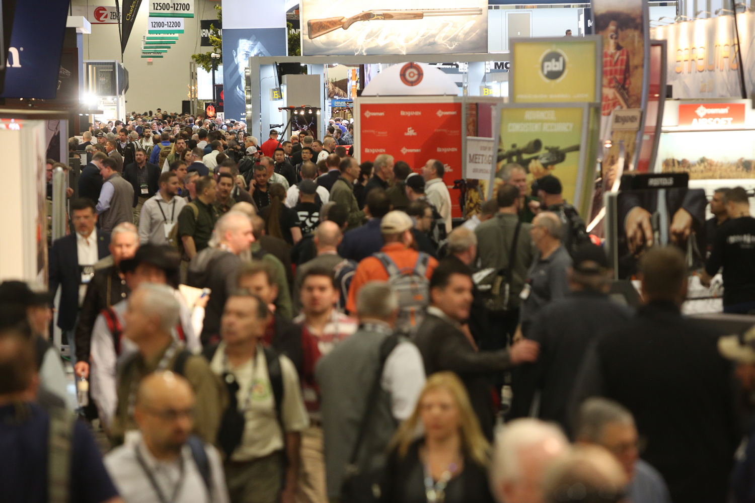 SHOT Show crowds, a breeding ground for communicable disease.