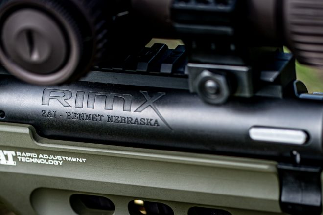 The new RimX precision rimfire bolt action from Zermatt Arms.