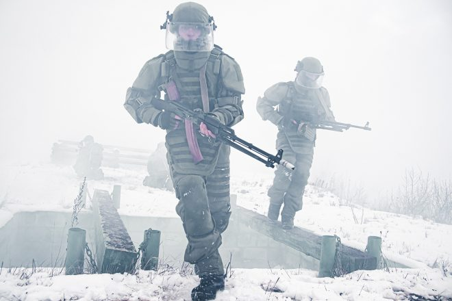 Russian Engineering Troops in Moscow