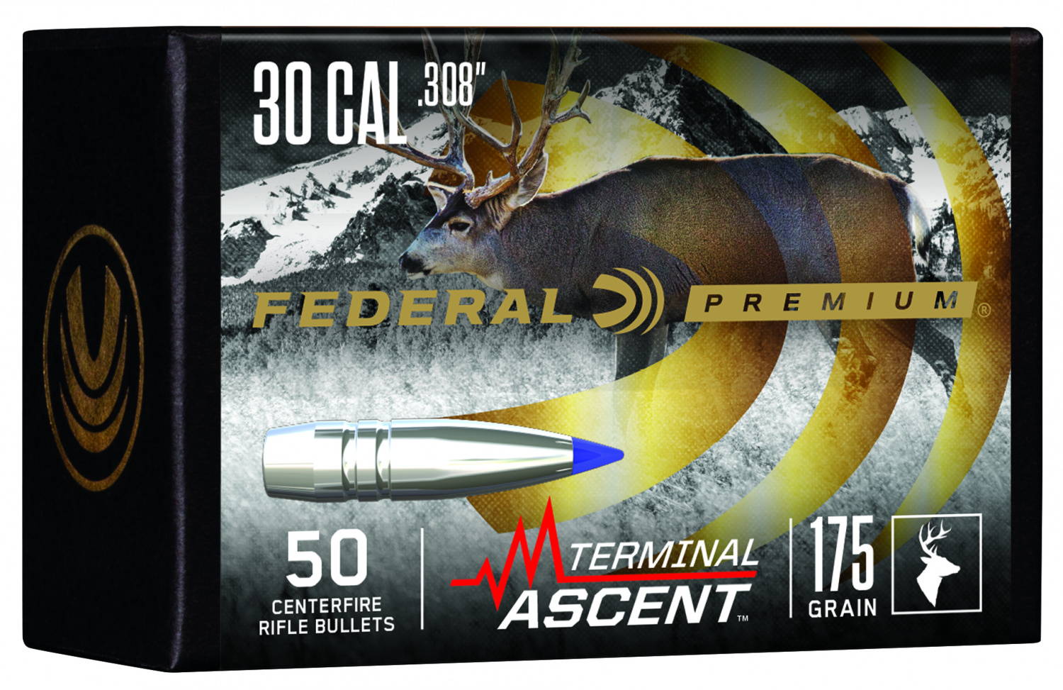 Federal TERMINAL ASCENT Hunting Rifle Ammunition and Bullets (2)