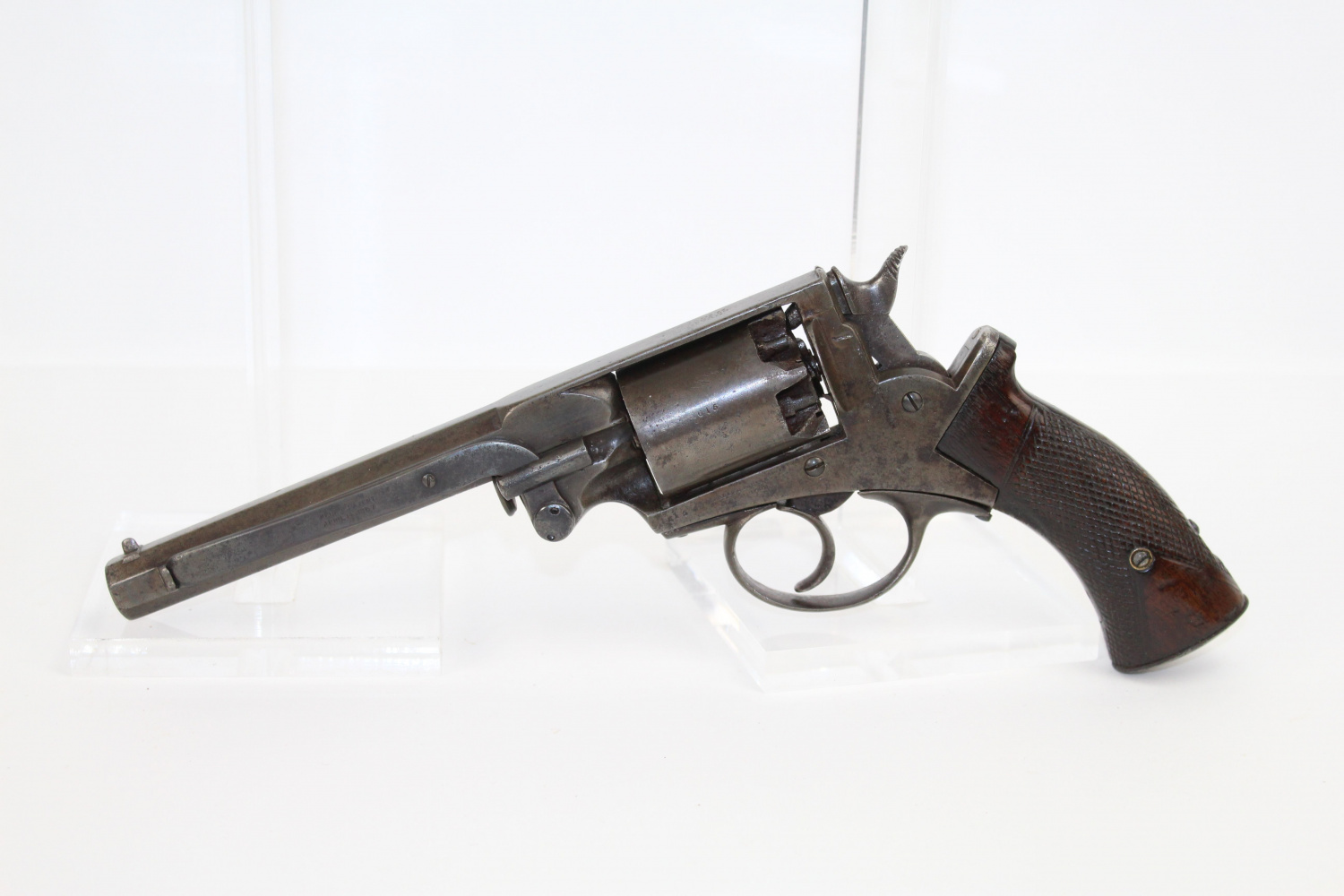 Robert Adams first to patent the double action revolver