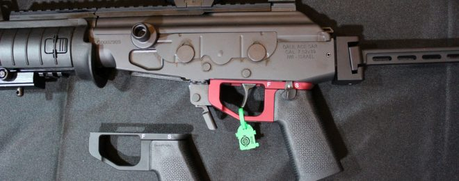 [SHOT 2020] KNS Precision Galil ACE Aluminum LowerGrip and Adjustable AK Aperture Sight (1)